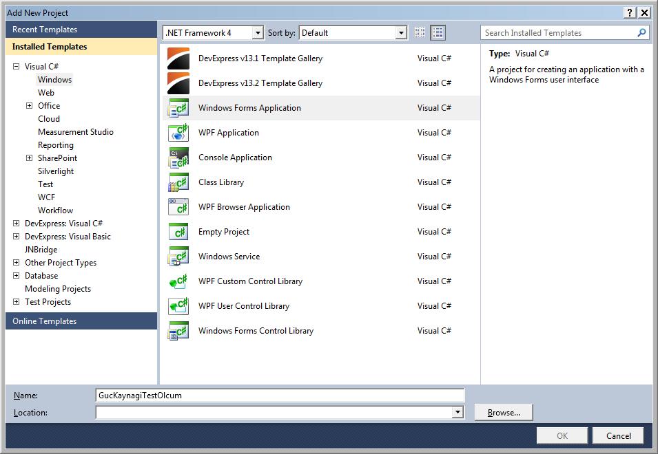 C# ile cihaz kontrol yeni proje